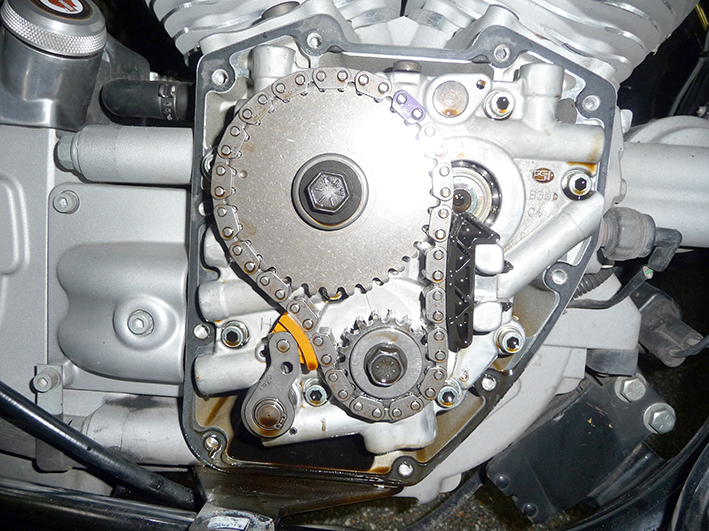 1 TC 99 – 06 met te hoge veer spannig op spanners , lagers en de silent – chain